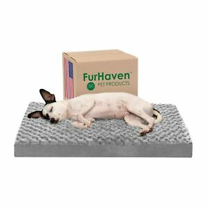 Furhaven Pet - Sofa-Style Dog Pillow Bed & Traditional Orthopedic Foam Ma... New