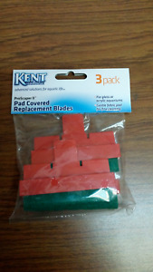 Kent  Plastic Blades for ProScraper II - Padded Covered Blades 3pk