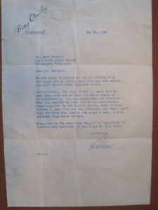 REJECTION LETTER FOR SONG PUBLICATION FROM BING CROSBY ENTERPRISES 1948