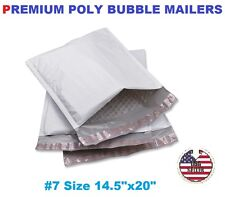 "5 #7 Poly Bubble Padded Envelopes Mailers 14.5"" X 20"" FREE FAST SHIP"