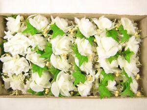 24 Wholesale Artificial Flower Rose Stephanotis Ivy Buttonholes Corsages Wedding