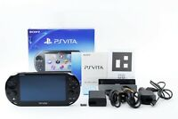 "w/ Memory card 16GB +Fullset +gift Sony PS Vita Black PCH-2000 From Japan ""Exc+"""