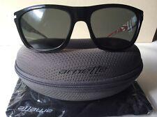 Arnette Venkman AN4141-09 Sunglasses - Gloss Black, White Stem Grey Lens - BNWT