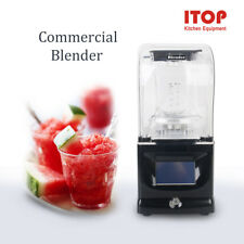 Commercial Heavy Duty Blender Sound-proof Processor Smoothie Mixer Bar Blender