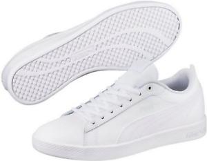 """Puma Retro Sneaker Echtleder """"Smash Wns v2 L""""  Puma white - Puma White"""