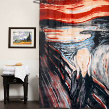 100% Polyester Fabric Shower Curtain with Edvard Munch The Scream Print 70