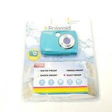 Polaroid 16mp Waterproof Instant Sharing Digital Camera Blue Teal New Free Ship