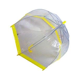 Children's Clear Plastic BUBBLE Umbrella 4 Color Trims to choose Safety slide