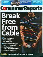 2014 Consumer Reports Magazine: Break Free From Cable/Mazda3/Jeep Cherokee