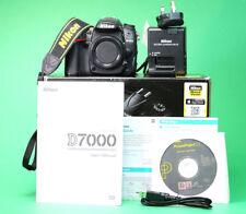 Nikon D7000 DSLR Camera, Manual, Battery, Charger, Box & Strap. 16,372 Shots.