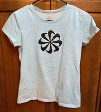 b9604acd Nike Running Women S Dri Fit Shirt Pinwheel Logo Blue Short Sleeve