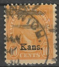 USA Scott #  668 Kansas overprint 10 Cent Used ( 668-7)