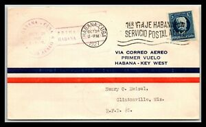 GP GOLDPATH: OTHER CARIBBEAN COUNTRY COVER 1927 AIR MAIL _CV699_P14