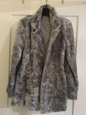 Fashion Women winter Coat Jacket Feux Fur grey short warm~S