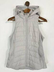 Lululemon Women's Gym Running Hooded Gilet Sports Jacket   US6 UK10   Grey