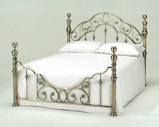 Lavish Florence Shabby Chic Antique Brass Vintage Luxury Metal Bed Frame in 4ft6
