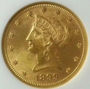 1899 $10 Liberty Head Gold Eagle NGC MS62