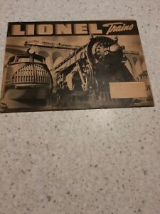 Antique 1937 Black & White Lionel Train Catalog 1950 & 1952 Color