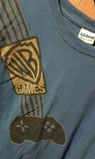 Vintage WB GAMES Shirt ~Warner Bros Interactive Entertainment~Blue Adult Size XL