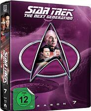 STAR TREK: THE NEXT GENERATION, Season 7 (6 Blu-ray Discs, Steelbook + Pin) NEU+