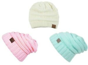 CC Beanie Cable Knit Winter Hats