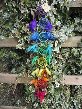 FairTrade Hand Made Long Rainbow Dream Catcher Dreamcatcher Mobile Wall Hanging