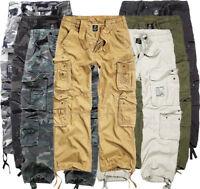 Brandit Herren Pure Vintage Men Cargo Hose Army Style Cargohose lang NEU B93