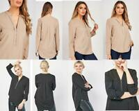 NEW Ex Store Zip Front Tunic Top Blouse  £35