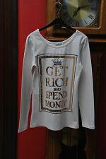 T-shirt ivoire pailleté doré Manches longues Taille M/L ou 38/40 Très Bon Etat!!