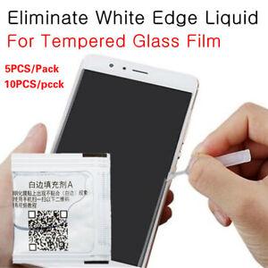 All Tempered Glass Screen Protector White Edge Revising Liquid Border Fill Oil