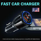 Black Car Charger Dual USB Wireless Fast 2A Ports Socket Adapter Fits Phones