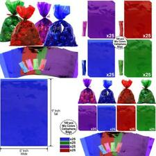 Cellophane Bags 100 Pcs Mix Colors (6 Inch X 9 Inch) | Colorful Cello Treat Bags