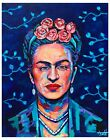 Frida Kahlo original abstract portrait painting by Xilberto on canvas 20x16