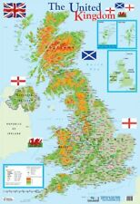 More details for poster map of the uk 40 x 60cm