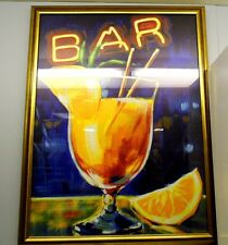 fine art BAR Glass framed print by Rafuse large contemporary piece open edition