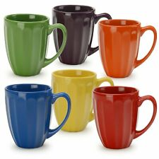 New listing Signature Housewares Assorted Colors Fluted Mugs (Set of 6) Multi
