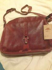 Vintage burgundy leather women handbag. Shoulder bag