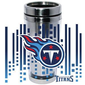 Tennessee Titans Logo Travel Mug Tumbler Stainless Steel NEW Clear Insert