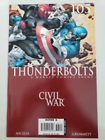 THUNDERBOLTS #105 (2006) MARVEL COMICS CIVIL WAR! CAPTAIN AMERICA VS BARON ZEMO!
