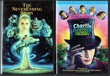 The Neverending Story (DVD, 2009) & Charlie and the Chocolate Factory(DVD,05,FF)