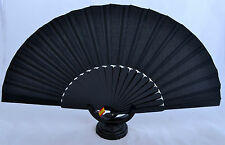 XXL Black Spanish flamenco Pericón dance fan guajira eventails ventagli abanico