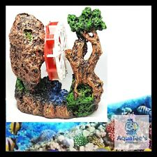 AQUARIUM FISH TANK WATER MILL DECORATION 17CM ORNAMENT AQUA MARINE FRESH