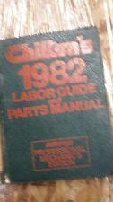 Chilton's Labor Guide & Parts Manual 1982