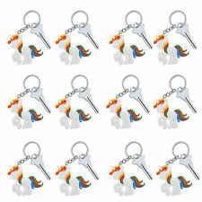 12 Unicorn Keyrings|Unicorn Party|Party Favours|Party Bag Fillers