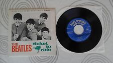 THE BEATLES Ticket to Ride 7´EP PORTUGAL RARE SLEEVE UNIQUE PARLOPHONE EXC