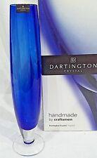 Dartington Crystal MEDIUM BLUE  Stem Vase, 27cm. nqp