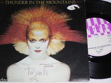"7"" - Toyah / Thunder in the Mountains & Street Addict - UK Lyrics # 1533"