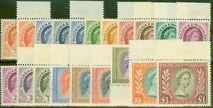 Rhodesia & Nyasaland 1954 Extended set of 20 SG1-15 All Types Superb MNH & VLMM