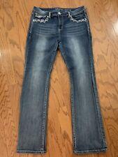 Women's GRACE IN LA Easy Fit Stretch Flap pockets Jeans 34 x 32.5