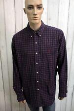 RALPH LAUREN Camicia Taglia 2XL Cotone Uomo Chemise Shirt Casual Manica Lunga